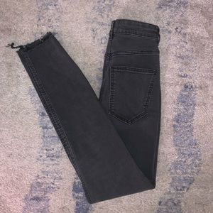 Zara black ripped jeans
